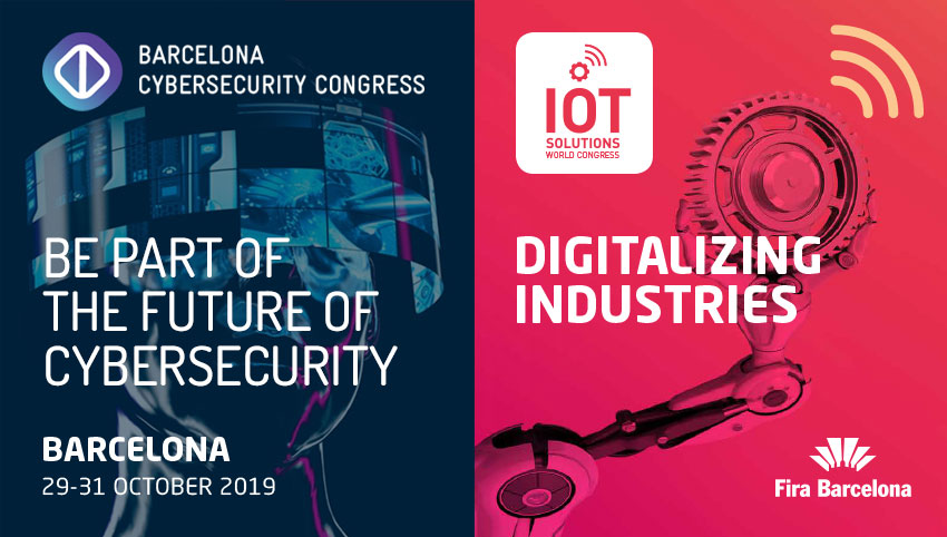 Ven a vernos al Cybersecurity y al IoT Solutions World Congress