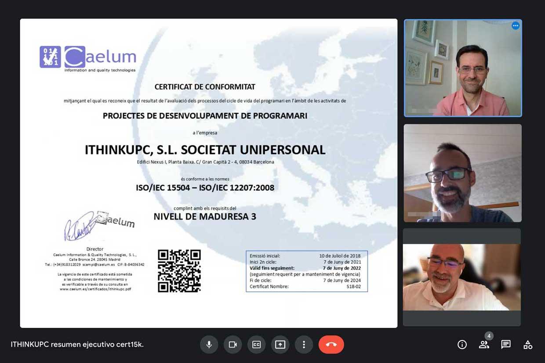 Renovem la nostra certificació ISO/IEC 15504 (SPICE)